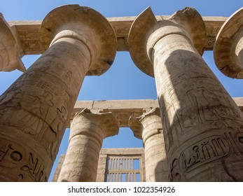 Columns at the Karnak Temple