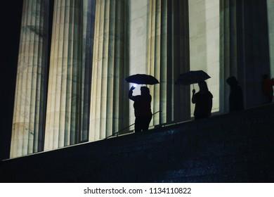 Columns Lincoln memorial Washington DC