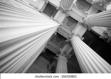 Columns at the National Archives
