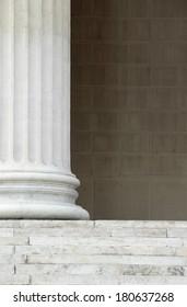 Columns neo-renaissance background close detail.