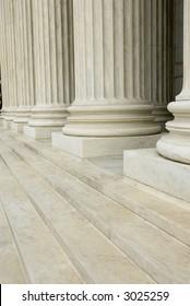 Columns and steps background texture U.S. Supreme Court building