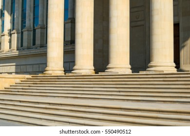 Columns and steps - generic building exterior