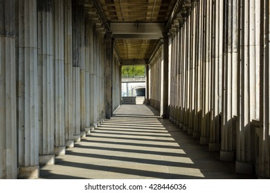 Columns stretching into the distance.