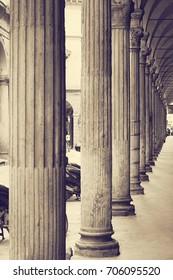 Columns. University of Bologna. Italy