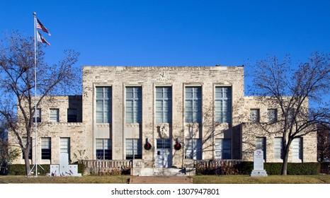 Comanche, Texas / USA - December 23 2007: Comanche County Courthouse