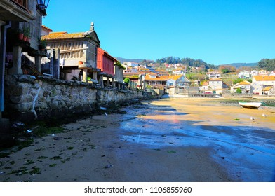 Combarro Galicia Spain is a fishing village considered one of the most beautiful in Galicia