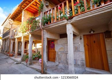 Combarro Galician village arcade in Pontevedra at Galicia Spain
