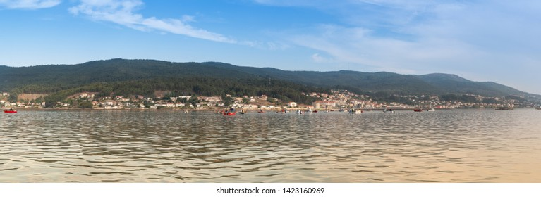 Combarro, Pontevedra, Spain, 26 September 2018, View of the sea and a small fisherman village in Spain