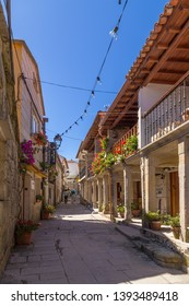 COMBARRO, SPAIN - JUN 15, 2017: The colorful street of the old town