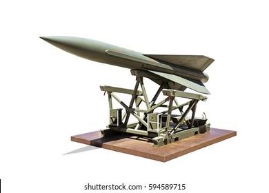 Combat missile isolated on white background
