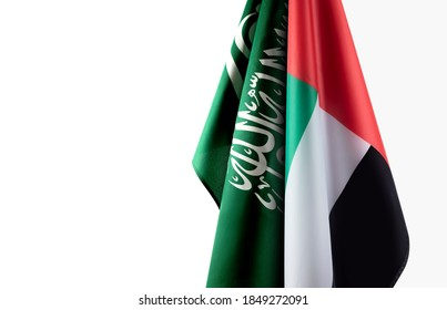 a combination between Saudi Arabia and United Arab emirates flag, a background for national occasions.