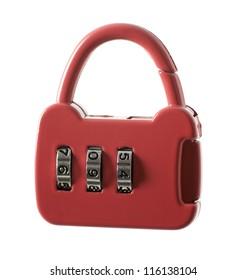 Combination lock isolated on white background