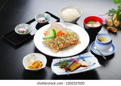 A combination photo of Japanese edo cuisine