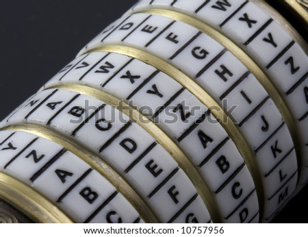 combination puzzle box with password or keyword