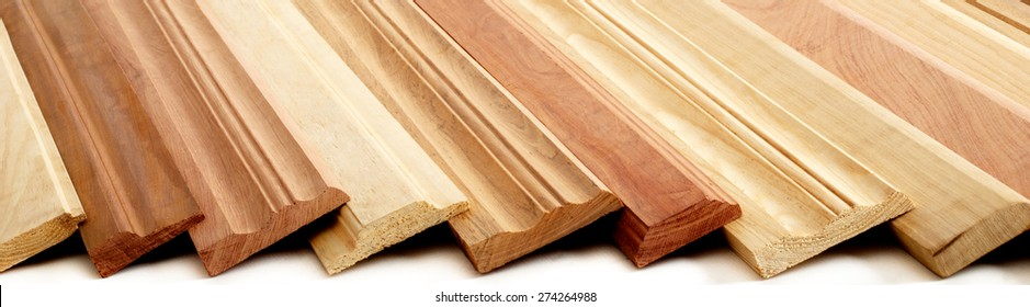 Combination of Wooden Skirting boards over white