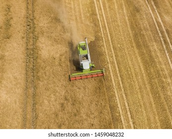 Harvester Combine Aerial Images, Stock Photos & Vectors