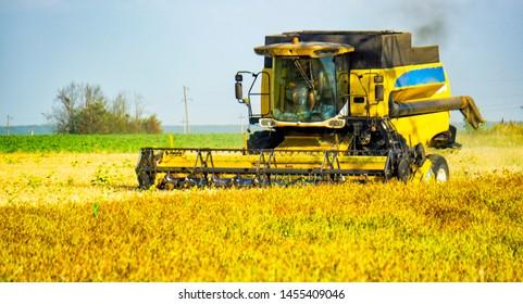 Combine Harvester Images, Stock Photos & Vectors | Shutterstock