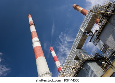 combine heat and power station in Lodz, Poland