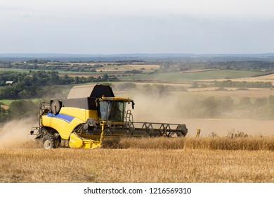 Combined Harvester, Wilmington, East Sussex, UK