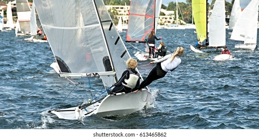 Combined High School Sailing Championships Lake macquarie Photography by  Geoff Childs.  sail, sailing, children