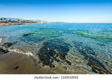 Combo Beach, Mijas, Costa del Sol Occidental, Malaga, Andalusia, Spain, Iberian Peninsula