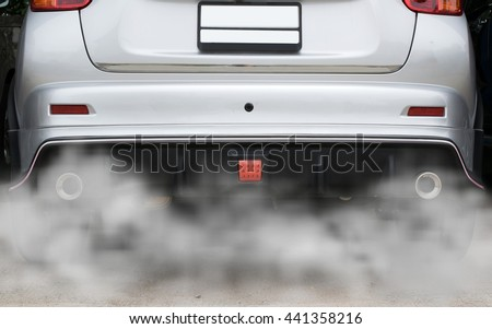 Combustion Fumes Coming Out Car Exhaust Stock Photo Edit Now
