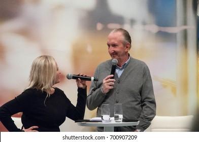 Comedian Mike Krüger at the Frankfurt Bookfair / Buchmesse Frankfurt 2015 in Frankfurt am Main, Germany