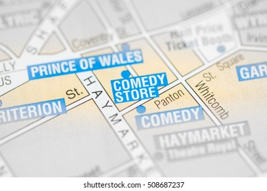 Comedy Store Cinema. London, UK map.