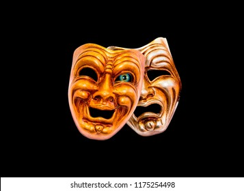 Comedy and Tragedy theatrical venetian mask