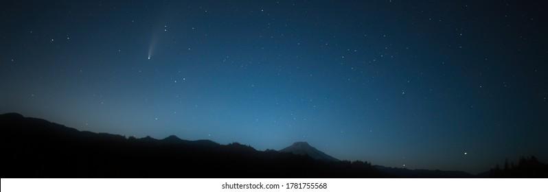 Comet Neowise Over Mount Baker
