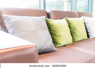 comfort pillow on sofa interior decoration in a room
