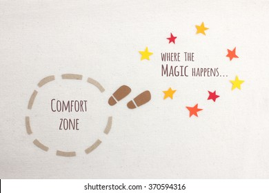 Comfort zone vs where the magic happens