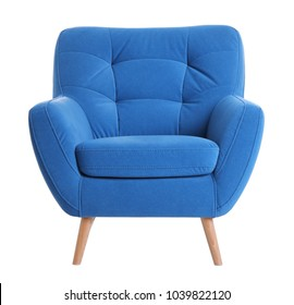 Comfortable armchair on white background