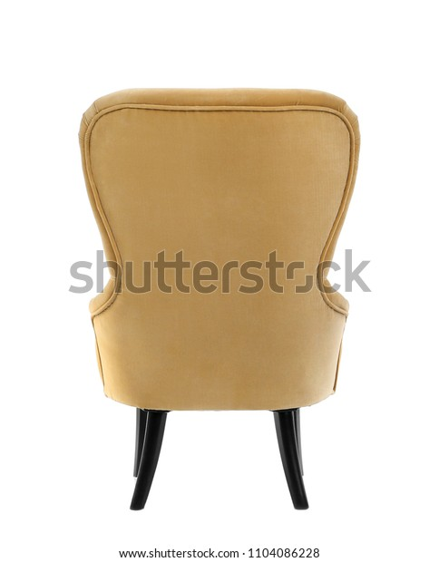 Comfortable armchair on white background. Interior element