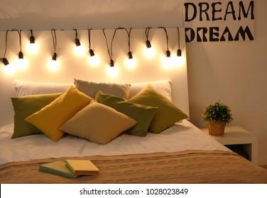 Fairy Lights Bedroom Images, Stock Photos & Vectors ...