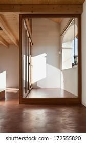 comfortable empty loft, view porch