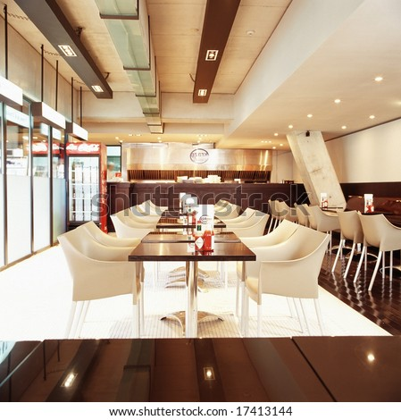 Comfortable Interior Decoration Luxury Restaurant Modern Stock Photo ...