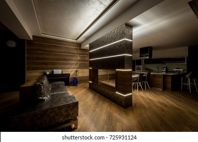 Comfortable living room and kitchen is back