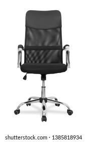 Comfortable office armchair isolated on white background.