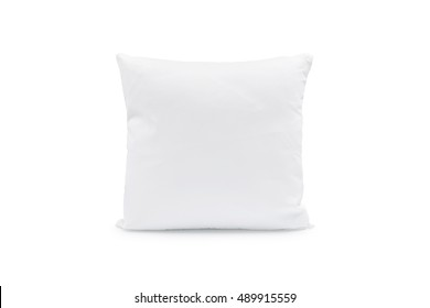 Comfortable pillow on isolated background with clipping path for your design.