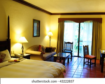 comfortable room in  a holiday resort