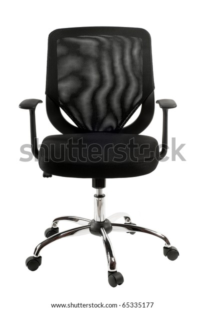 Surprising Comfortable Single Black Office Chair Desk Stock Photo Edit Unemploymentrelief Wooden Chair Designs For Living Room Unemploymentrelieforg