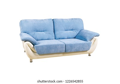 Comfortable sofa on white background. soft furniture for modern room interior