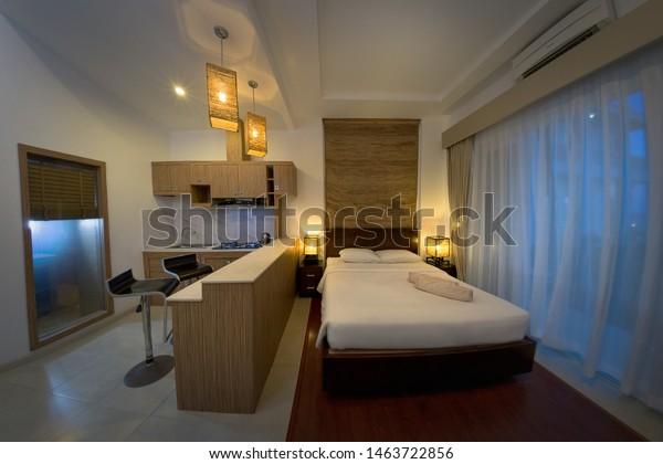 Comfortable Studio Apartment Design Hotel Room Stock Photo Edit