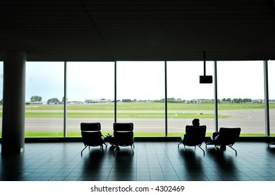 Comfortable waiting area, travel lounge at Amsterdam Schiphol Airport