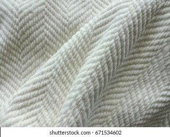 Comfy White Weave Heavy Throw Blanket