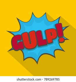Comic boom gulp icon. Flat illustration of comic boom gulp  icon for web