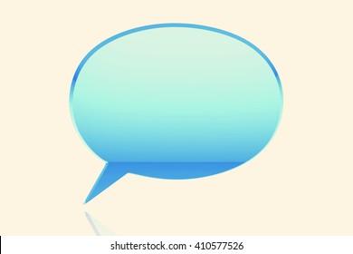 comic speech bubble.3D illustration