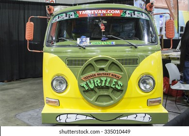 COMIKAZE EXPO: Los Angeles Convention Center, October 30, 2015. The annual Stan Lee's Comikaze Expo celebrating pop culture, comic books, movies and television. Teenage Mutant Ninja Turtles van.