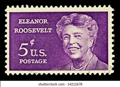 Commemorative stamp honoring the first lady, Eleanor Roosevelt.